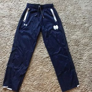 Never worn Under Armour Notre Dame track pants